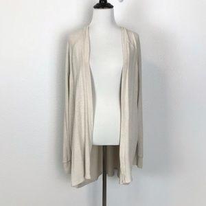 AE L Soft & Sexy Plush Open Cardigan Sweater Cream